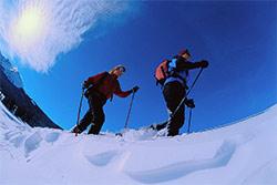 Tiefschneefahren in der Ortler Skiarena